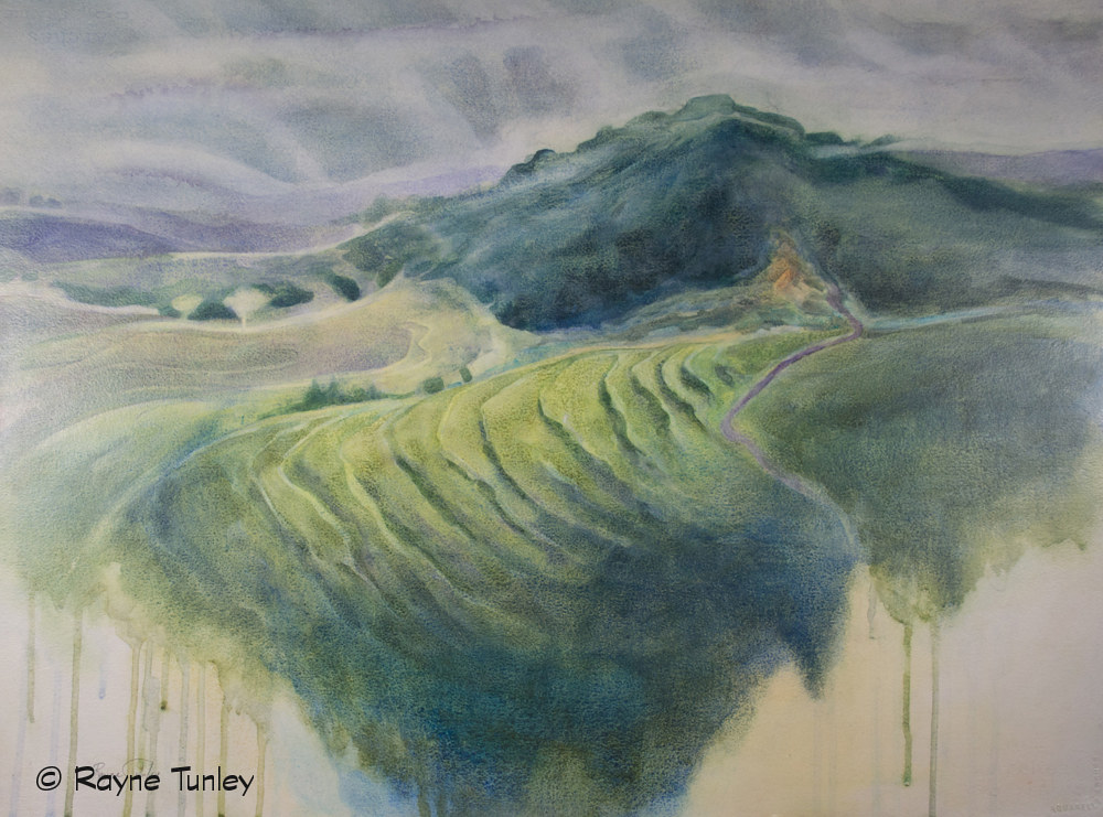 Rayne Tunley, Horizon of Hope, 22in x 30in, watercolour by Rayne Tunley