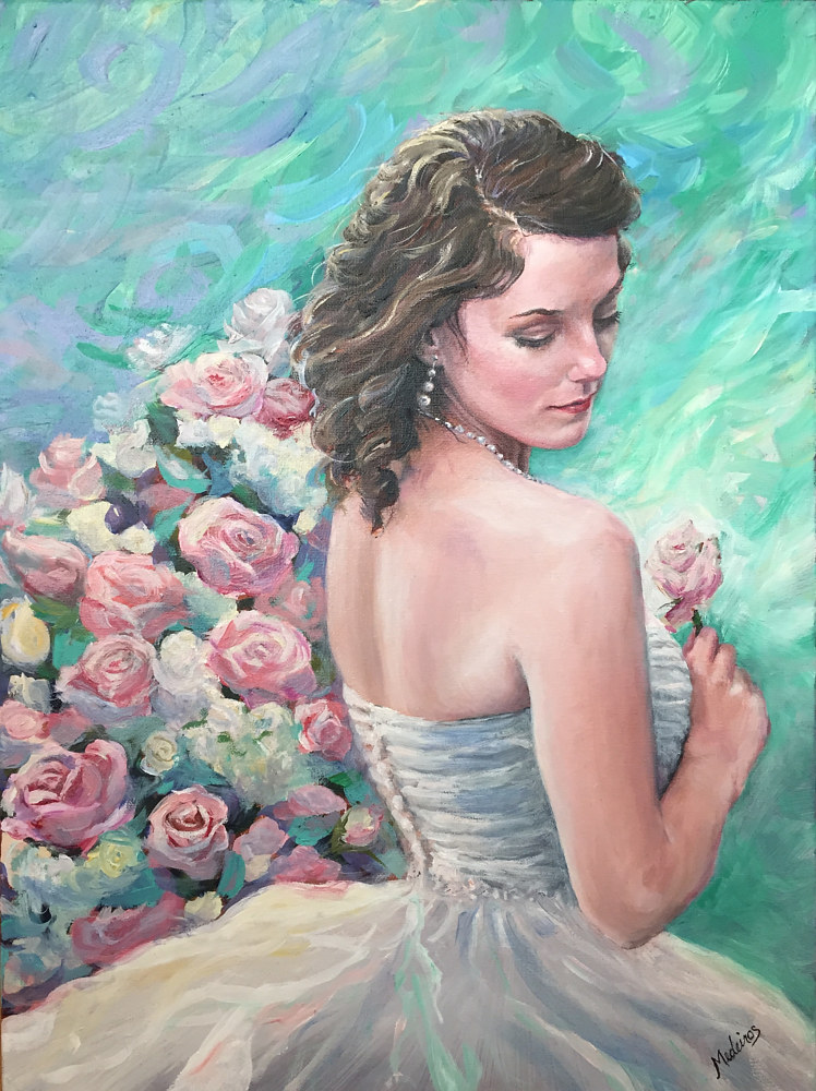 Oil painting Wedding Day Moment by Betty Ann  Medeiros