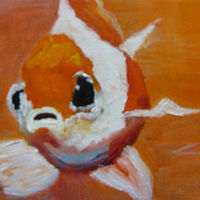Oil painting Goldfish by Barbara Haviland