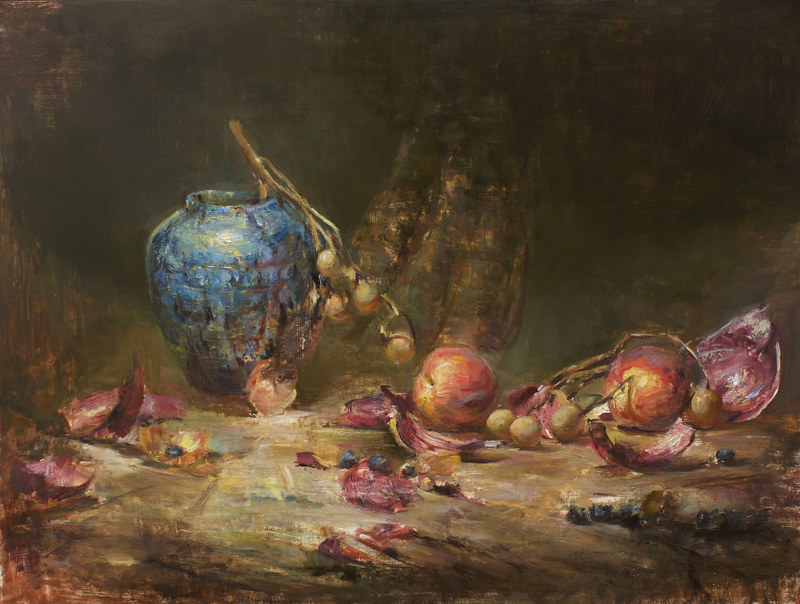 "Oil painting Chen Cao ""Life and Death"" by Julie Gladstone"