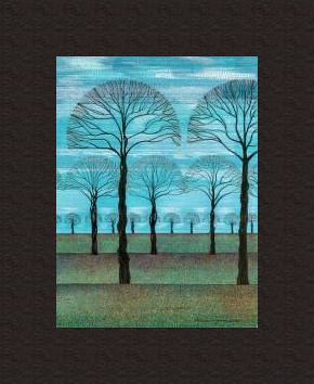 Print Blue Sky Fall by Lawrie  Dignan