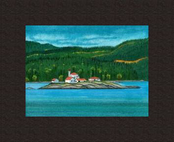 Print Entrance Island Lighthouse by Lawrie  Dignan