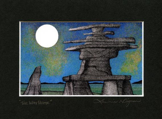 Print The Way Home ( Black Mat )  by Lawrie  Dignan