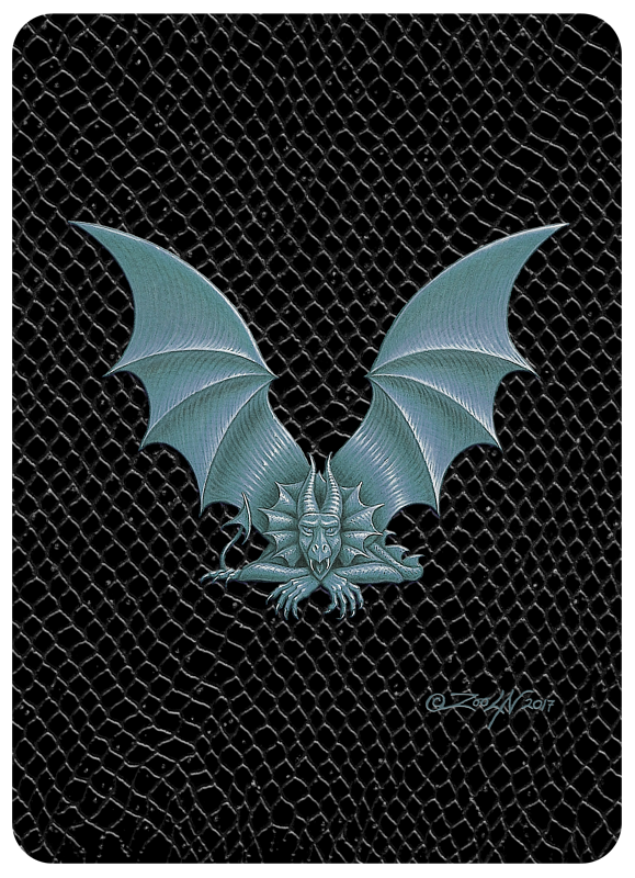 "Print Dragon Letter V, 5""x7"" print by Sue Ellen Brown"