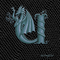 "Print Dragon Letter U, 5""x7"" print by Sue Ellen Brown"