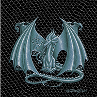 "Print Dragon Letter M, 5""x7"" print by Sue Ellen Brown"
