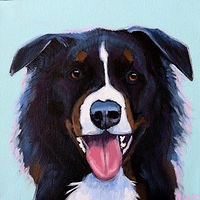 Acrylic painting BEST FRIEND by Lesli Devito