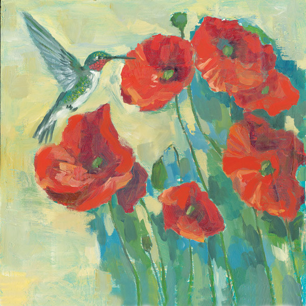 Hummingbird_poppies by Cody Blomberg
