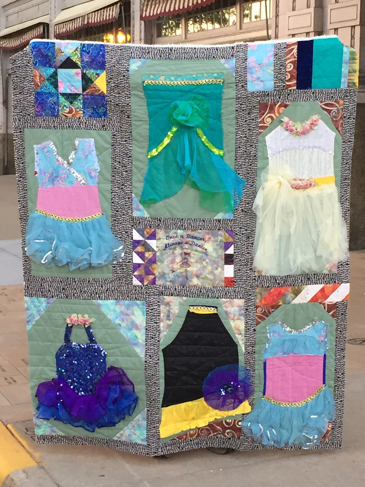 Dance Costume quilt, high school graduate, May 2017 by Maday Delgado