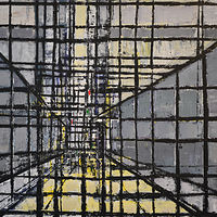 Acrylic painting Urban Matrix #15 by David Tycho
