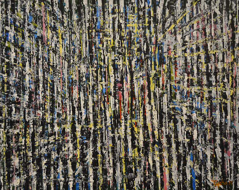 Acrylic painting Urban Matrix #1 by David Tycho