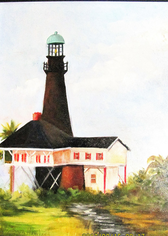 Port Bolivar Lighthouse #2 by Barbara Haviland