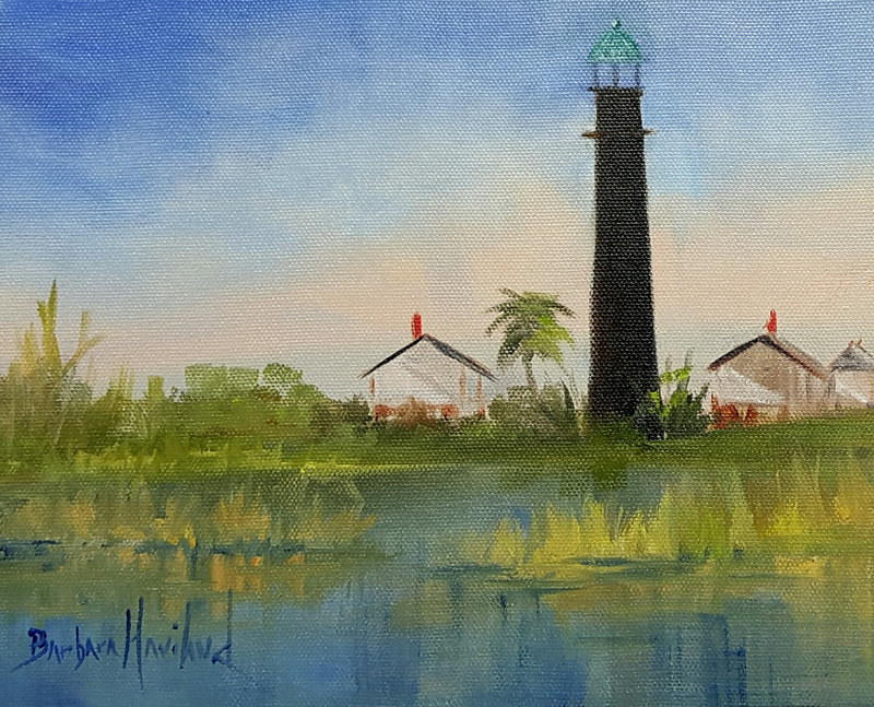 Port Bolivar Lighthouse by Barbara Haviland