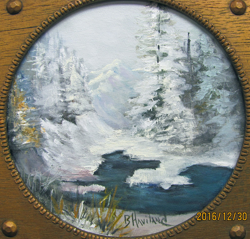 Oil painting 7 Snow Round by Barbara Haviland