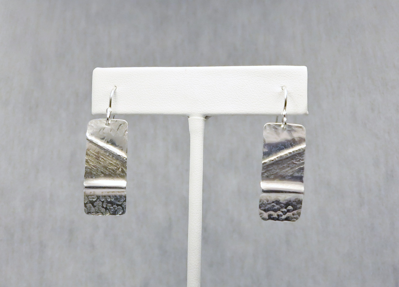 Argentium sterling silver 'fold form' earrings by Vicki Allesia