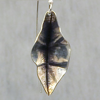 Argentium sterling silver earrings by Vicki Allesia