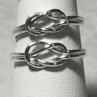 Celtic knot Argentium sterling rings by Vicki Allesia