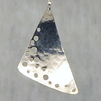 holes in the sand  argentium sterling earrings by Vicki Allesia