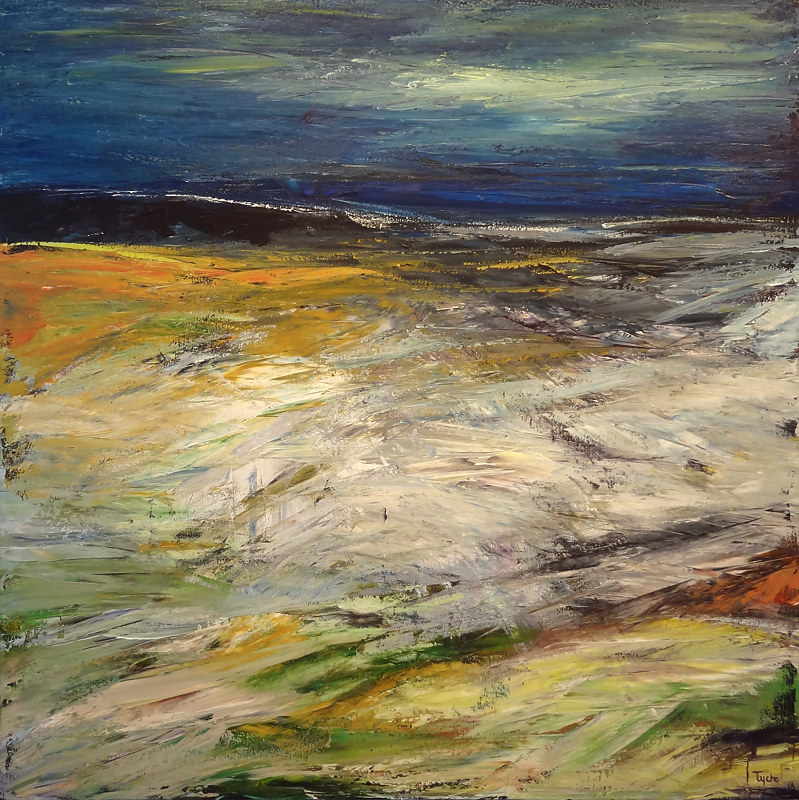 Acrylic painting Tümpisa (Death Valley) No. 2 by David Tycho