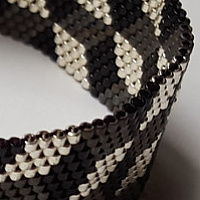 Beaded bracelet black cubes (magnetic clasp)  by Vicki Allesia