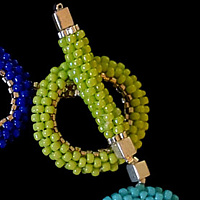 Beaded colored rings bracelet  by Vicki Allesia