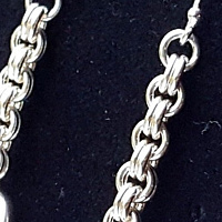 Chainmaille earrings  by Vicki Allesia
