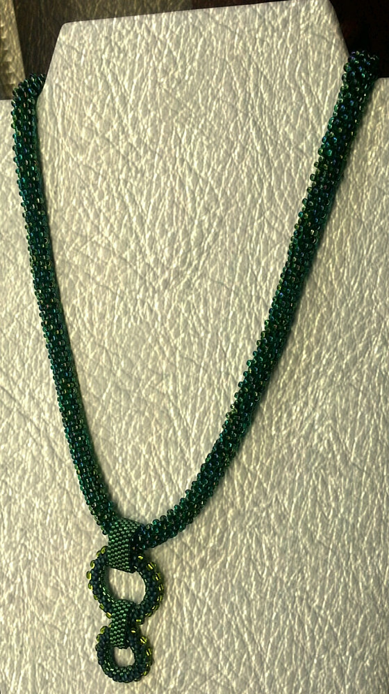 Beaded rope necklace and pendant  by Vicki Allesia