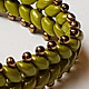 Superduo green bracelet  by Vicki Allesia
