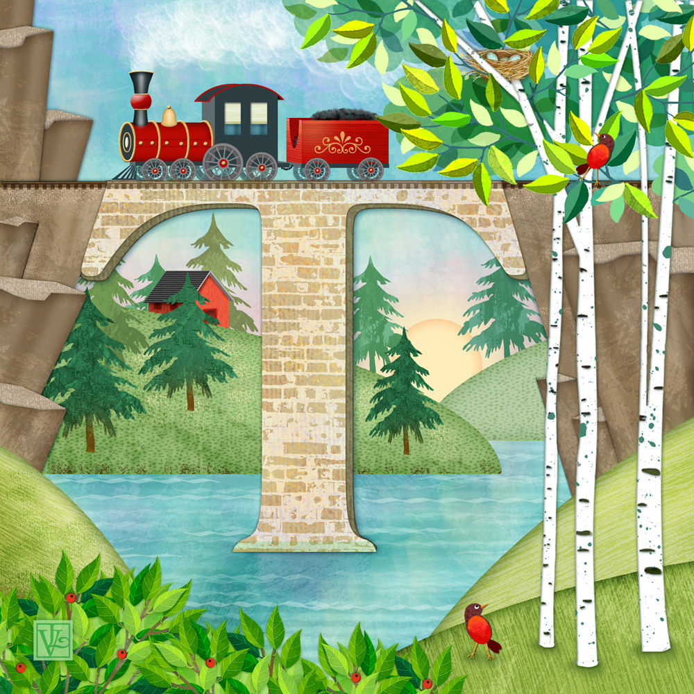 T is for Train and Train Trestle by Valerie Lesiak