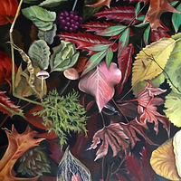 Oil painting In Nature by Jeanie Bates