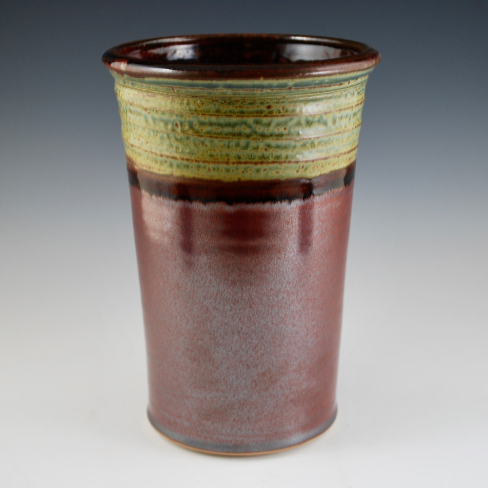 Rust Red Wine Cooler with Ash Trail by Mark  Goertzen