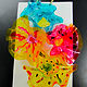 "Gr.2-Chihuly ""Glass"" Wall Sculptures - plastic, wire and glass paint by Victoria Avila"