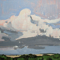 Acrylic painting Hilltops....RESERVED for Hans!  by Harry Stooshinoff