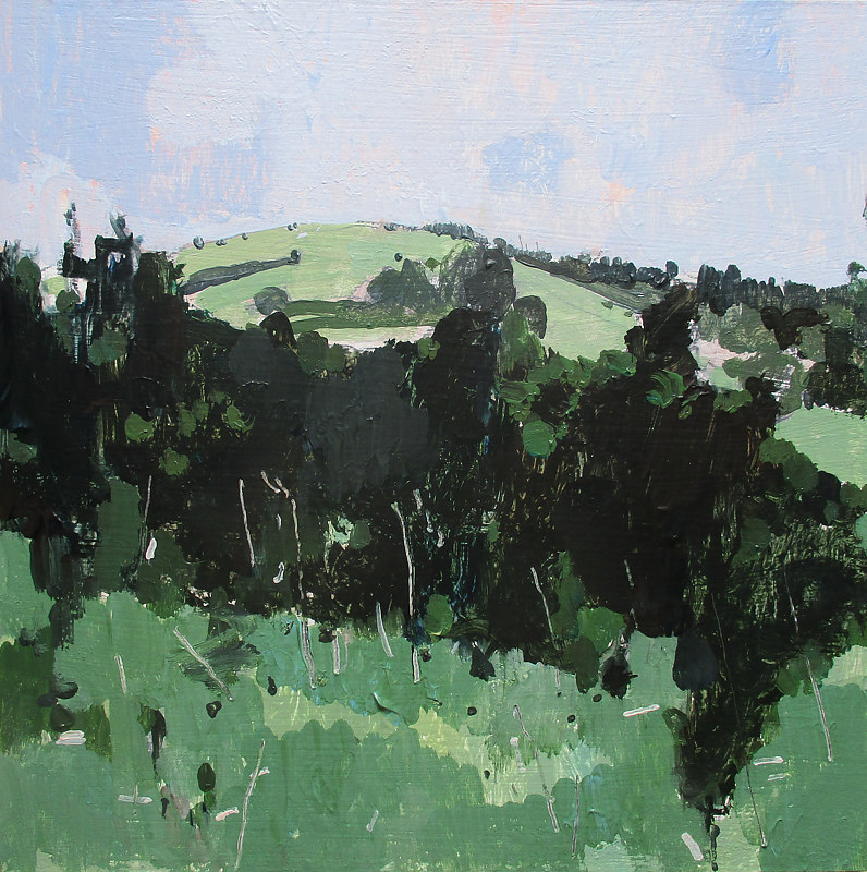Acrylic painting July Haze, Wendy's Hill by Harry Stooshinoff