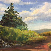 "Oil painting ""Catskill Mountains"" by Betty Ann  Medeiros"