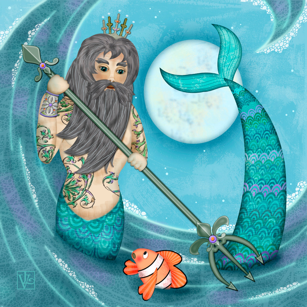 N is for Neptune by Valerie Lesiak