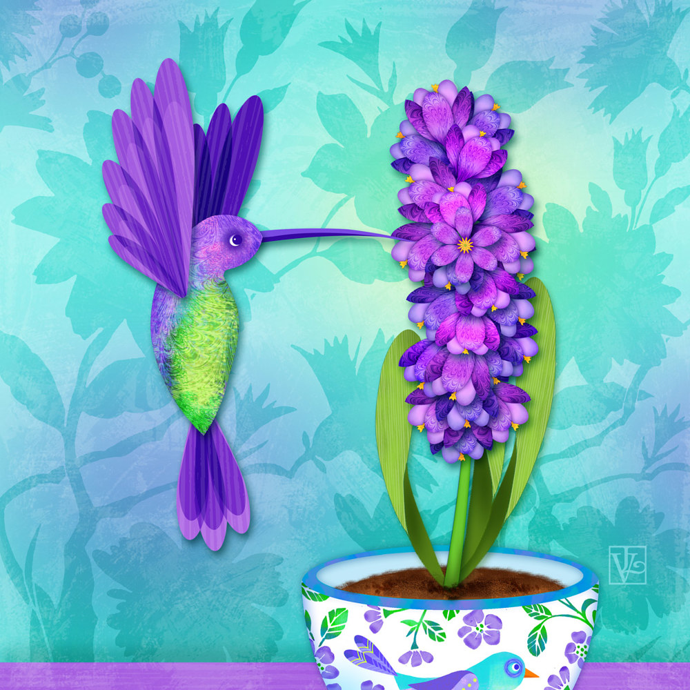 H is for Hummingbird  by Valerie Lesiak