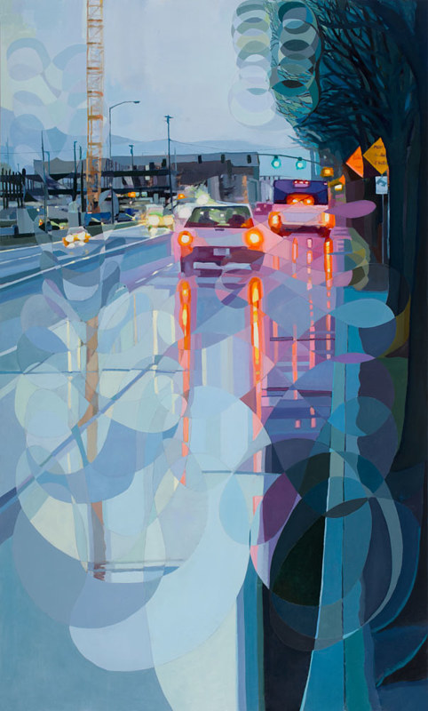Oil painting NW Naito Parkway/Butterfly Wings by Shawn Demarest