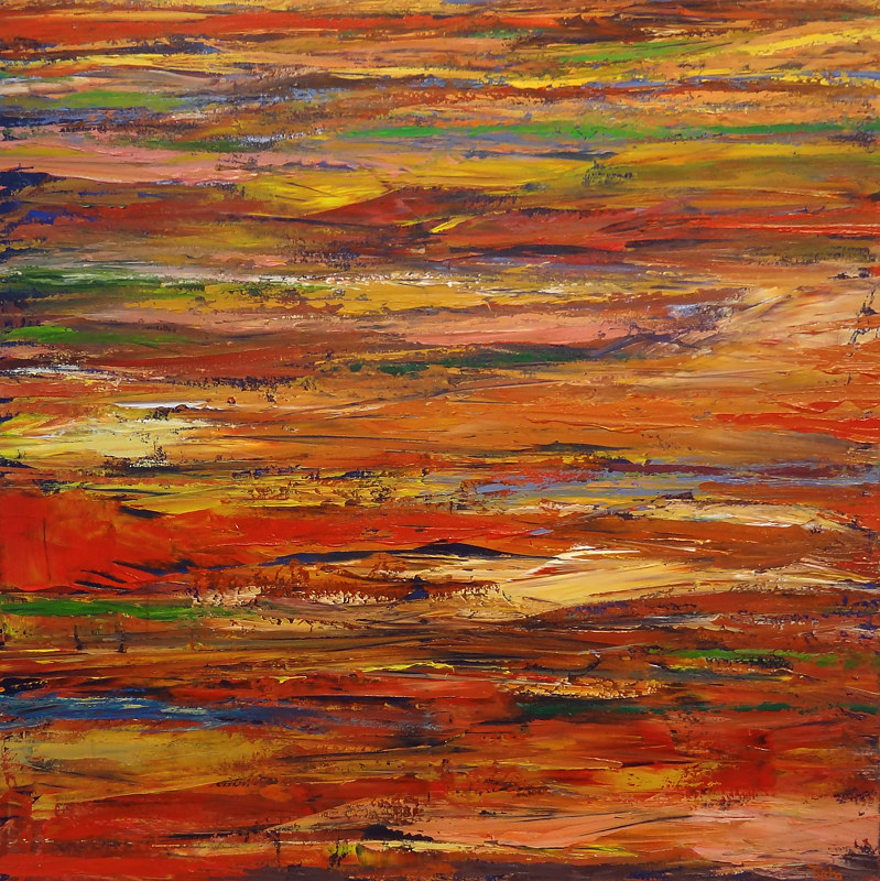 Acrylic painting Valley of Fire No. 3   by David Tycho