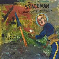 Acrylic painting The Spaceman from Outerspace by Bernard Scanlan
