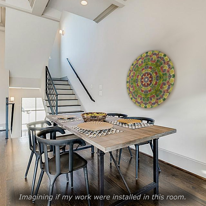 "Print Virtual Room with Mandala ""Creativity Catcher"" by John Hovig"