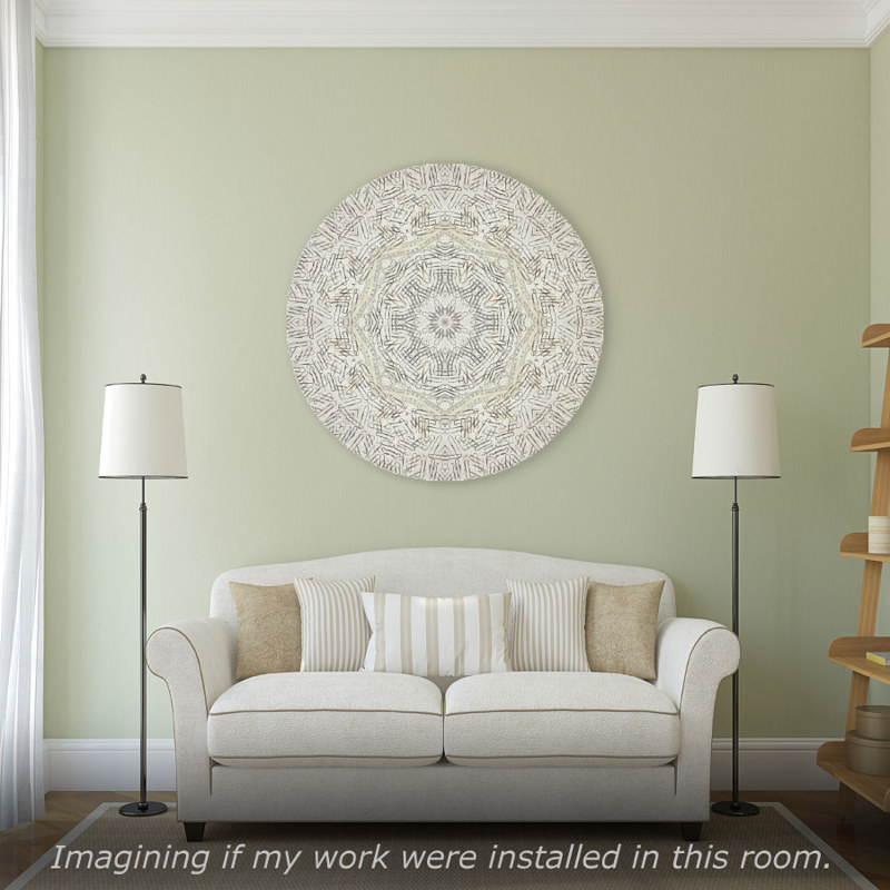 "Print Virtual Room with Mandala ""Celestial Radiance"" by John Hovig"