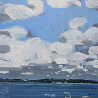 Acrylic painting North Shore, August 28 by Harry Stooshinoff
