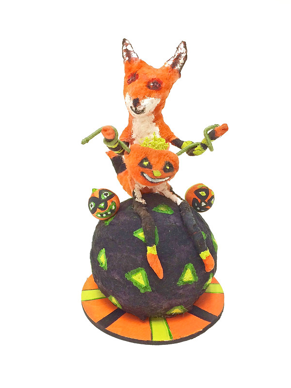 Fox with Pumpkin by Fascia Berlin
