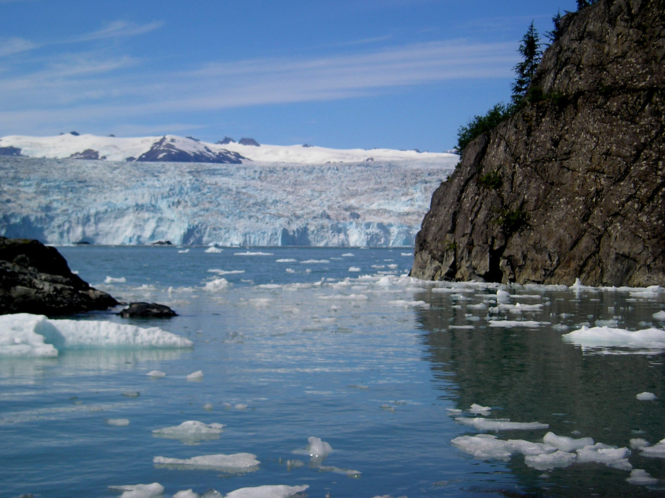 Chenega Glacier and iceburgy water by Victoria Avila