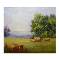 Oil painting Hay Bales  by Barbara Haviland