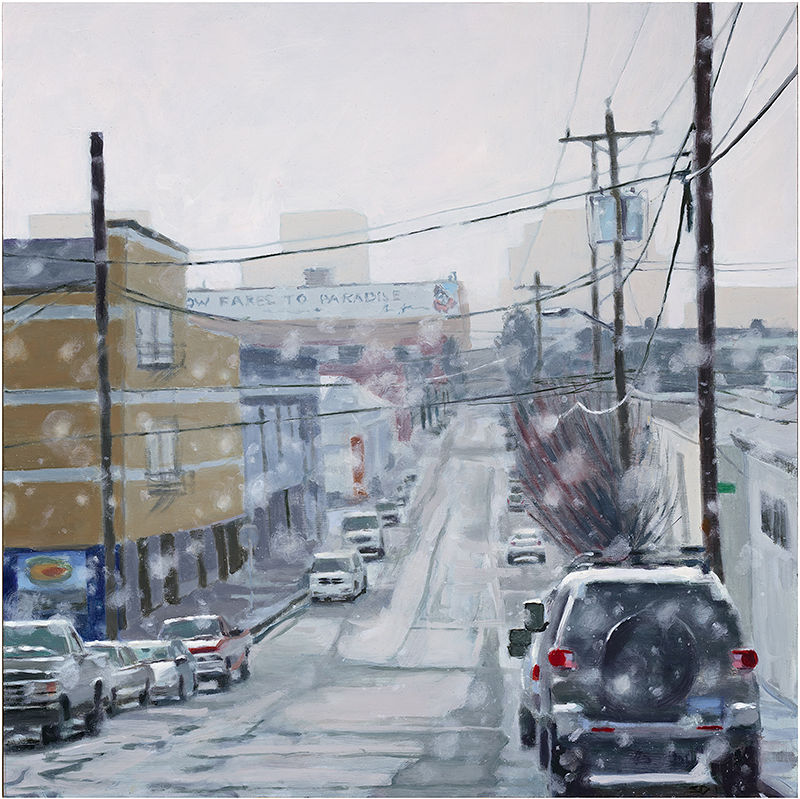 Oil painting SE Alder Snow by Shawn Demarest