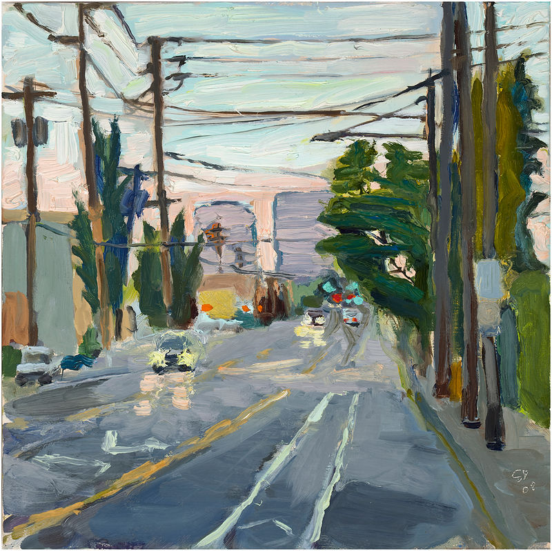 Oil painting SE 7th Dusk by Shawn Demarest