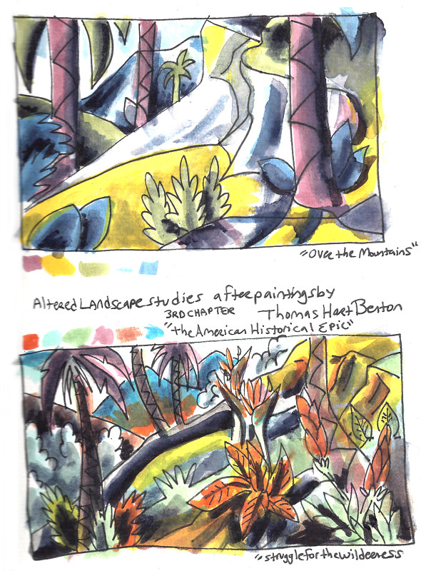 Drawing 9-15/9-25-16 Watercolor Sketchbook Pg 1 by Kenneth M Ruzic