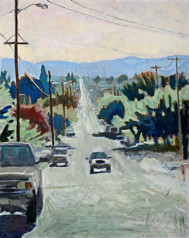 Oil painting Small in a Big Place by Shawn Demarest